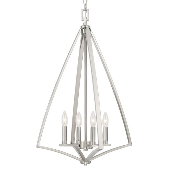 Capital Lighting Boden Collection 4-light Brushed Nickel Foyer Fixture