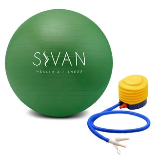 Burst Resistant Green Exercise Stability Ball With Pump