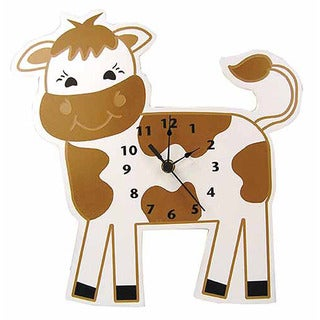 Trend Lab Home Decorative Barnyard Cow Wall Clock