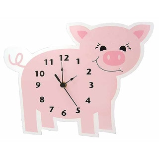 Trend Lab Home Decorative Barnyard Piglet Wall Clock