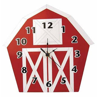 Trend Lab Home Decorative Barnyard Barn Wall Clock
