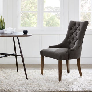 Madison Park Fenton Grey Tufted Back Dining Chair 2-piece Set