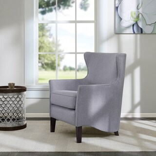 Madison Park Reid Silver Swoop Base Club Chair