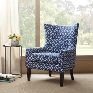"Madison Park Kara Navy Shelter Wing Chair - 30.25""W x 32""D x 41""H"