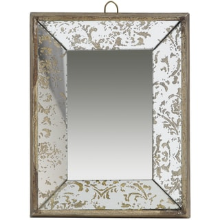 A&B Home Gold Glass Tray Mirror