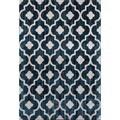 Modern Moraccan Trellis Blue Area Rug (7'10 x 10'2)