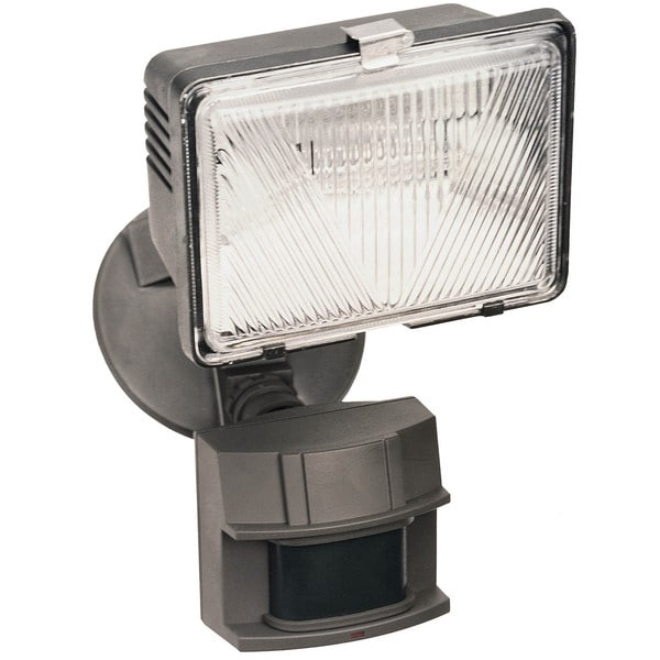 Heathco HZ-5525-BZ 1 Bulb 250 Watt Bronze Halogen Motion Flood Light