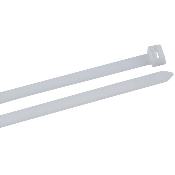 "GB Gardner Bender 45-521 21"" Wht Nylon Heavy-Duty Cable Tie 10 Per Bag"