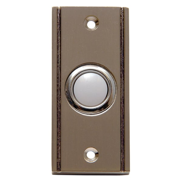Thomas & Betts DH1633L Carlon Satin Finish Wired Brass Push Button