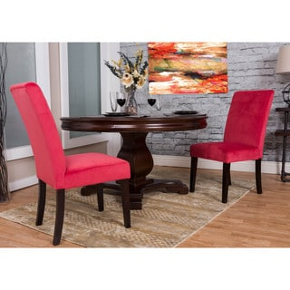 Bombay Cranberry Microfiber Dining Chair Set (Set of 2)