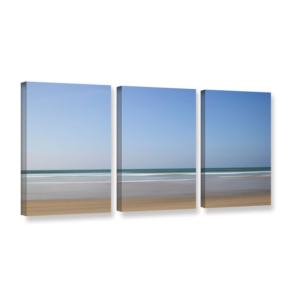 Chris Tuff's 'Shore Lines 8' 3-piece Gallery Wrapped Canvas Set
