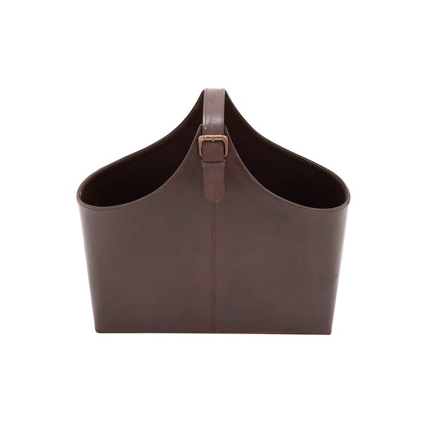 The Stunning Wood Real Leather Magazine Holder