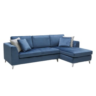 Sunpan Virgillio Ink Blue Sofa Chaise
