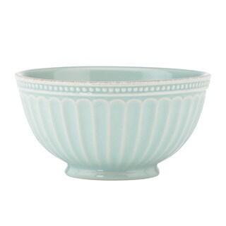 Lenox French Perele Everything Stoneware Ice Blue Bowl