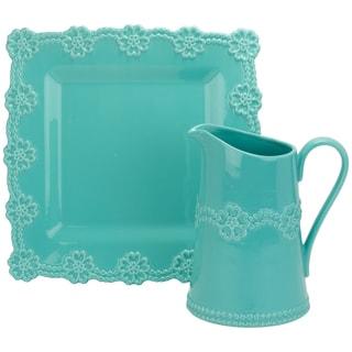 Lace Turquoise 2-piece Accessory Set