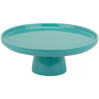 Whittier Turquoise 10-inch Cake Stand