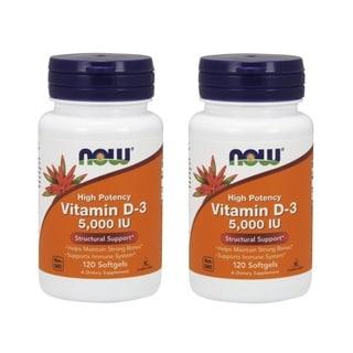 Now Foods 5,000 IU Vitamin D-3 (120 Softgels)