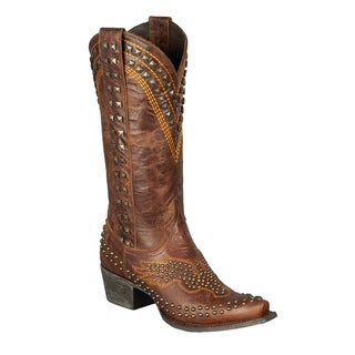 Lane Boots Women's Golden Eagle Brown Leather Cowboy Boot