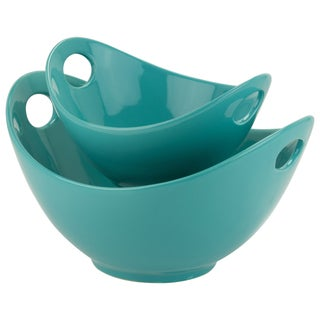 Whittier Turquoise 8-inch and 11-inch Cutout Bowl Set