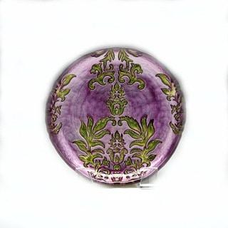 Damask Purple/Green Salad Plate