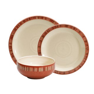 Denby Fire Stripes 12-piece Dinnerware Set