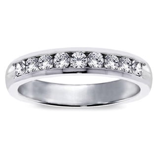 Platinum 3/4ct TDW Diamond Channel Set Wedding Band