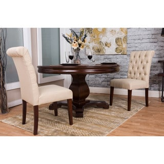 Bombay Beige Tufted Dining Chair Set (Set of 2)
