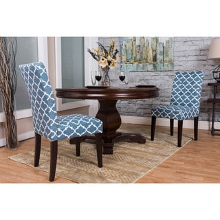 Bombay Blue Moroccan Tufted Dining Chair Set (Set of 2)
