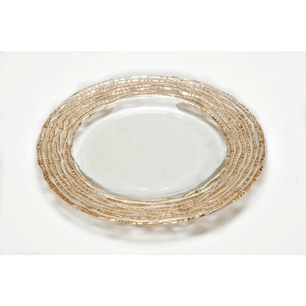 Magara Clear Gold Round Salad Plate