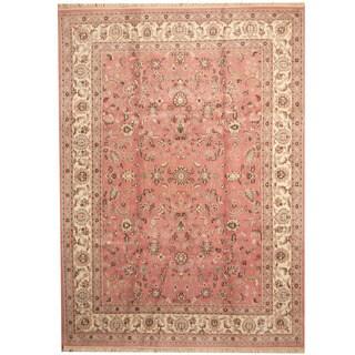 Herat Oriental Indo Hand-knotted Kashan Wool Rug (8'10 x 12'1)