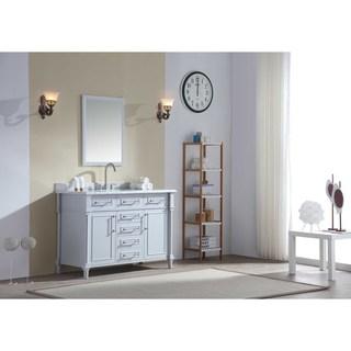 Ari Kitchen and Bath Ani 48-inch Wood and Marble Single Bathroom Vanity Set