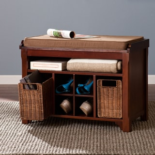 Fallon Espresso Storage Bench