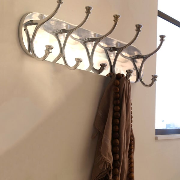Urban Designs Aluminum 5-hook Wall Mount Coat Rack
