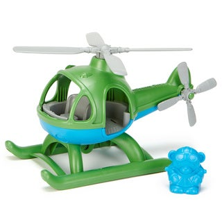 Green Toys Green and Blue Plastic Helicopter