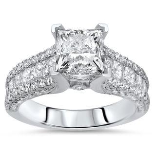 Noori Certified 14k Gold 2 2/5ct TDW Enhanced Diamond Engagement Ring (F-G, SI1-SI2)
