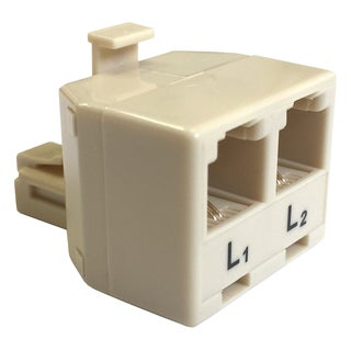 Black Point Products Inc BT-069 4 Conductor 2 Line Ivory T Adapter