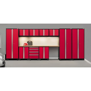 NewAge Bold Series 12-piece Steel Cabinet Set with Bamboo Top