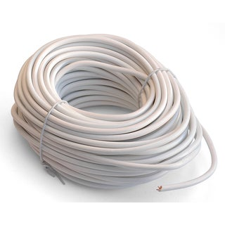 Black Point Products Inc BT-048-WHITE 50' 4 Conductor White Telephone Line