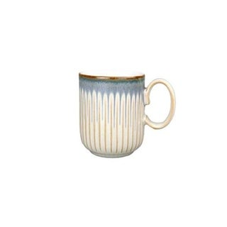 Denby Stoneware Multicolored Linen Fluted Mug