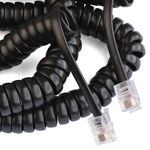 Black Point Products Inc BT-015-BLACK 25' Black Telephone Handset Cord