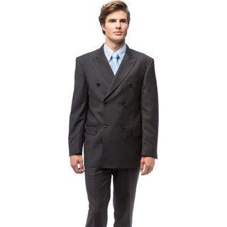 Men's Charcoal-grey Double-breasted Suit
