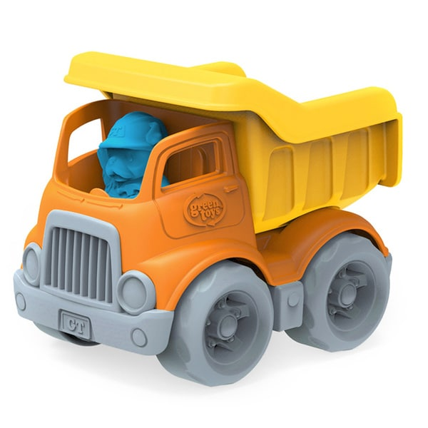 Green Toys Yellow and Orange Dumper Construction Truck