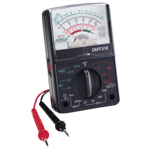 GB Gardner Bender GMT-318 14 Range Analog Multimeter
