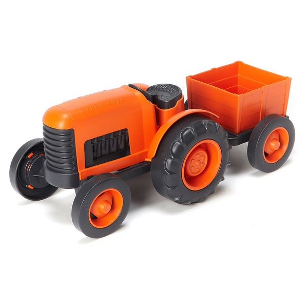 Green Toys Orange Recycled-Plastic Farm Tractor 18325116
