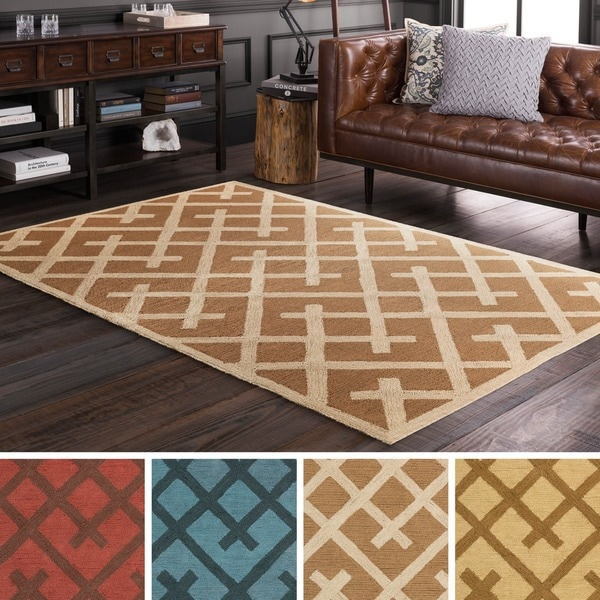Hand Tufted idiom Jute Rug (2' x 3')