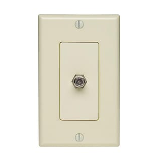 Leviton C22-05861-00W Single Gang White Coaxial Jack Cover