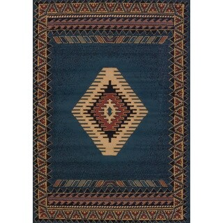 Manhattan Tucson Light Blue Area Rug (9'2 x 12'6)