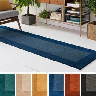 Hand Loom Quail Wool Rug (2' x 8')