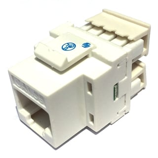 Black Point Products Inc BT-191-WHITE 8 Conductor Category 5 White RJ45 Keystone Jack