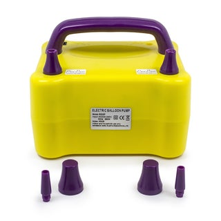 LED Concepts Yellow and Purple Electric Balloon Pump